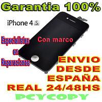 PANTALLA LCD COMPLETA + TACTIL PARA IPHONE 4S DIGITALIZADOR CRISTAL NEGRO 4 A+