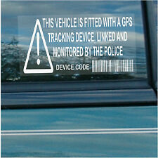 10 X vehicle,car,van,taxi,minicab,cab-gps seguridad stickers-alarm Rastreador De Señales