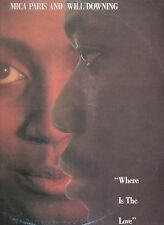 """MICA PARIS WILL DOWNING disco MIX 12"""" 45 g WHERE IS THE LOVE 1989 made in ITALY"""