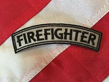 Reflective Firefighter Small Rocker Patch