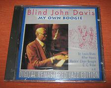 "Blind John Davis CD "" MY OWN BOOGIE "" Pastels"