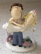 novelty wedding cake toppers bride and groom