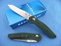 Benchmade 940 Osborne Axis Lock Knife Green Handle S30V Plain Edge