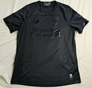 New Balance Men's Liverpool FC Black 2019/20 Blackout Shirt Size Medium - Used