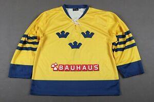 """Sweden #7 """"L/XL"""" Bauhaus Jersey Shirt Ice Hockey 216/1000 *Limited* Trikot"""
