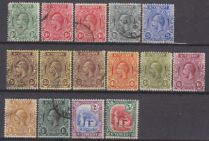 St Vincent 1913 Used Set to 5/- Cat £210