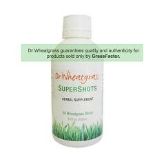 Dr Wheatgrass Supershots- Organic Wheatgrass Juice- Great For Immune Health