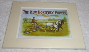 Mounted print The New Hornsby Mower