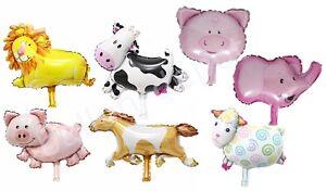 Set Folienballon Luftballon Geburtstag Tier Ballon Löwe Pferd Baby Kinder Party