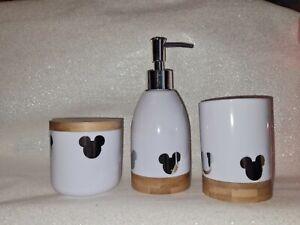 Disney Mickey mouse Soap Dispenser & Tumbler Set and storage pot