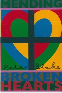 PETER BLAKE HAND SIGNED 6X4 PHOTO ART MEMORABILIA MENDING BROKEN HEARTS.