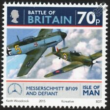 RAF Boulton Paul DEFIANT / Bf.109 Battle of Britain WWII Aircraft Stamp #6 2015