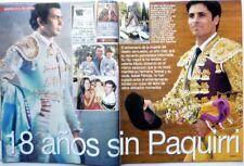 PAQUIRRI / ISABEL PANTOJA =>  RECORTE de prensa 5 PAGINAS  (año 2002)