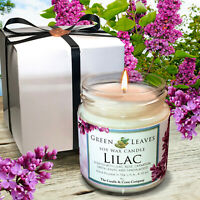 LILAC Soy Candle | 4oz | Hand-poured | Fall Candle, Minimalist, Book Lover Gift