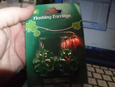 Unbranded St Patrick's Day& Flashing Earrings New