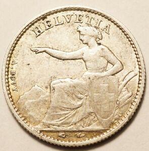 SUISSE : RARE 1/2 FRANC ARGENT 1850A