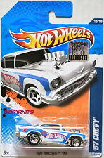 HOT WHEELS 2011 HW RACING '57 CHEVY #10/10 WHITE FACTORY SEALED W+