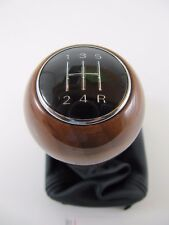 Genuine OEM Audi A4 A6 8E B6 B7 5 Speed Black Leather & Wood Shift Knob Boot