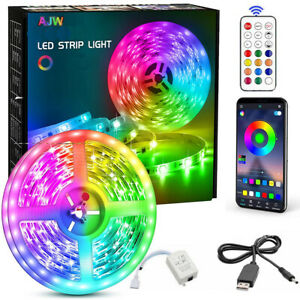 1~20M LED Strip Lights RGB Colour Changing Tape TV Cabinet Kitchen Lighting UK