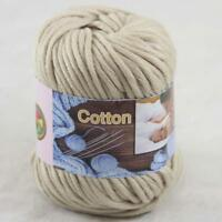 Sale New 1Skeinx50gr Soft Worsted Cotton Chunky Hand Knitting Baby Quick Yarn 10