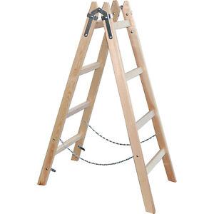 Holzleiter - 4 Sprossen Malerleiter Sprossenleiter Klappleiter Holzstehleiter