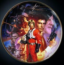 More details for star wars trilogy hamilton collection certified limited edition plate by morgan