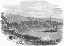 SHIPS. Chiltern laying French Atlantic cable, antique print, 1869