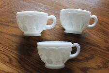 3 Westmoreland Milk Glass Fruits Punch Cup(s) - Pineapple, Cherries, Grapes