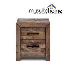 Boston Solid Recycled Pine Timber Bedside Table Storage Nightstand Cabinet