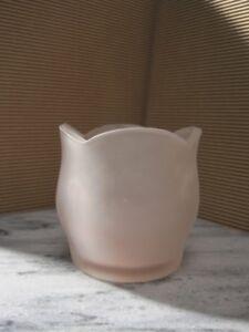 Petal votive candleholder - Frosted white - HJ083