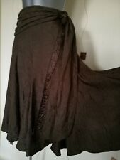 SKIRT 16 44 LARGE L CRINKLE FLIPPY FULL BOHO GYPSY QUIRKY STEAMPUNK M&S