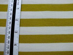 2.5 meters at 70 inch   jersey lycra , mustard stripe