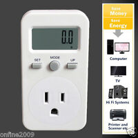US Plug Plug-in Digital LCD Energy Monitor Power Meter Usage Monitoring Socket