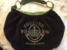 Cute Juicy Couture Purple Velour Purse Handbag Shoulder Bag