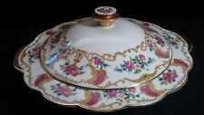 Beautiful Vintage Royal Bayreuth Bavaria Round Covered Vegetable Dish Excellent