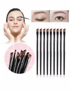 🇬🇧2Pcs Eyebrow Brush Tinting Eyeshadow Pro Angled Brow Brush Set❤️❤️UK SELLER
