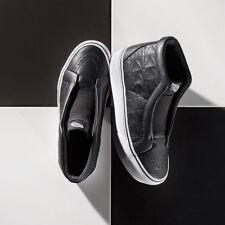 Vans Karl Lagerfeld Sk8-Hi Laceless Shoes Platform Black Leather Quilt M7 W8.5