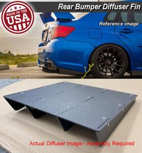 "22"" x 21"" ABS Universal Rear Bumper 4 Fins Diffuser Fin Canards Black For  Mini"