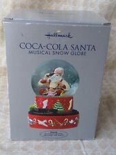 Hallmark Coca Cola Santa Snow Globe I'd Like To Teach The World Music Christmas