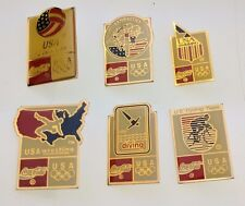 Lot of 6 Coca-Cola 1992 Olympics Barcelona Pins Team USA Sports Swimming Diving