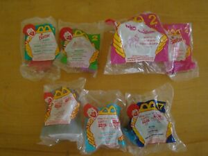 LOT OF 7 NEW WRAPPED MCDONALD'S TOYS 1995-1999 BARBIE TOY STORY 2 BUG'S LIFE