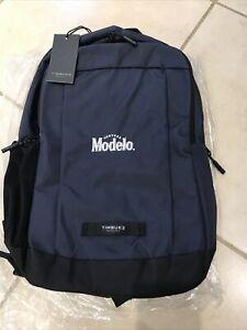 Timbuk2 Parkside Nautical Laptop Backpack w/Promo CERVEZA MODELO Navy NEW