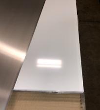 24 X 96 White Aluminum Flat Sheet 030 Thick Painted