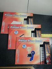 Set of 3 Alfred's Premier Piano Course Books 1A Beginner Level with Cd's