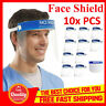 10pcs Full Face Covering Anti-Fog Shield Clear Glasses Face Protection Tooling O