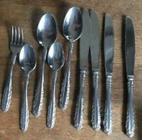 """Mid Century Stanley Roberts """"Glenmere"""" Stainless lot of 9 Hard-to-Find pattern"""