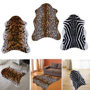 Zebra Jaguar Leopard Animal Print Faux Fur Soft Mat Hall Runners Rug Living Room