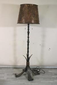 Stehlampe Schmiedeeisen Metallkunst 1960er/70er Jahre (MÖ4640)