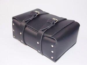 NEW BLACK LEATHER TOOL BAG ENDURO ISDT SCRAMBLER PENTON KTM HUSQVARNA DUCATI DKW