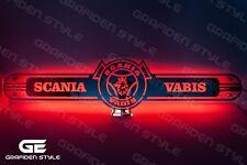 1 stück SCANIA VABIS LKW SPIEGEL LED SCHILD - LKW Rückwand - LED SIGN - L100cm